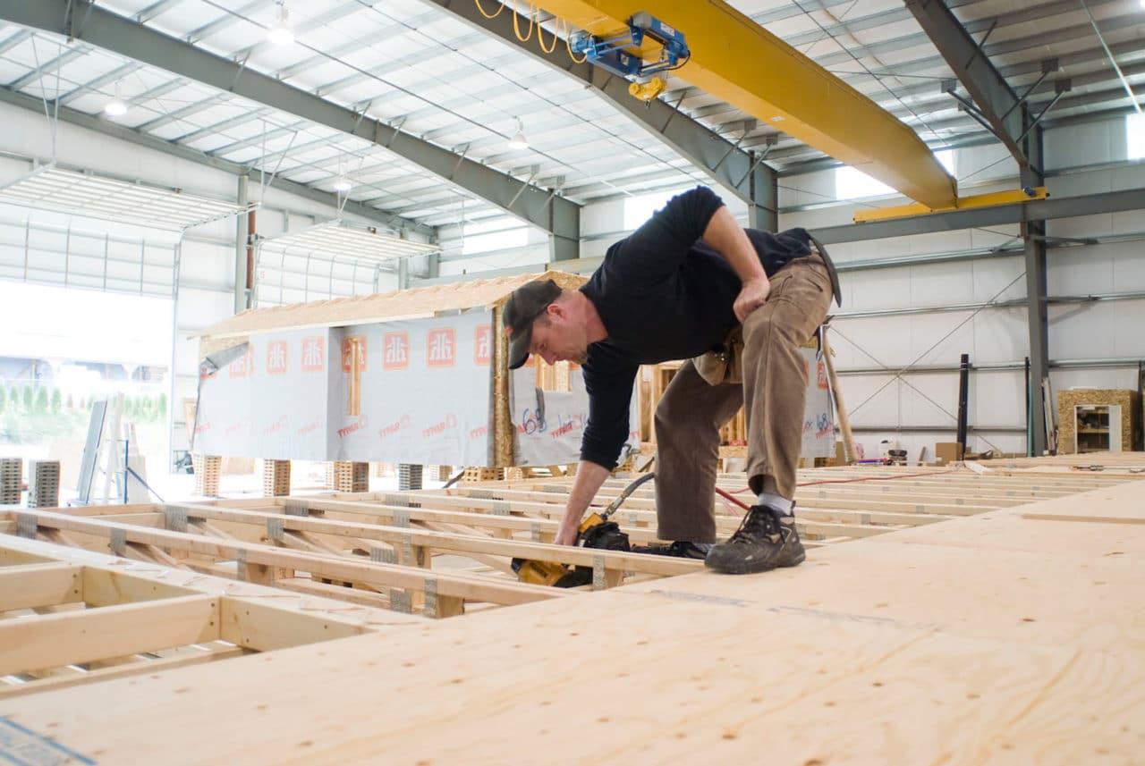 Freeport Construction Staff Member Framing Modular Home
