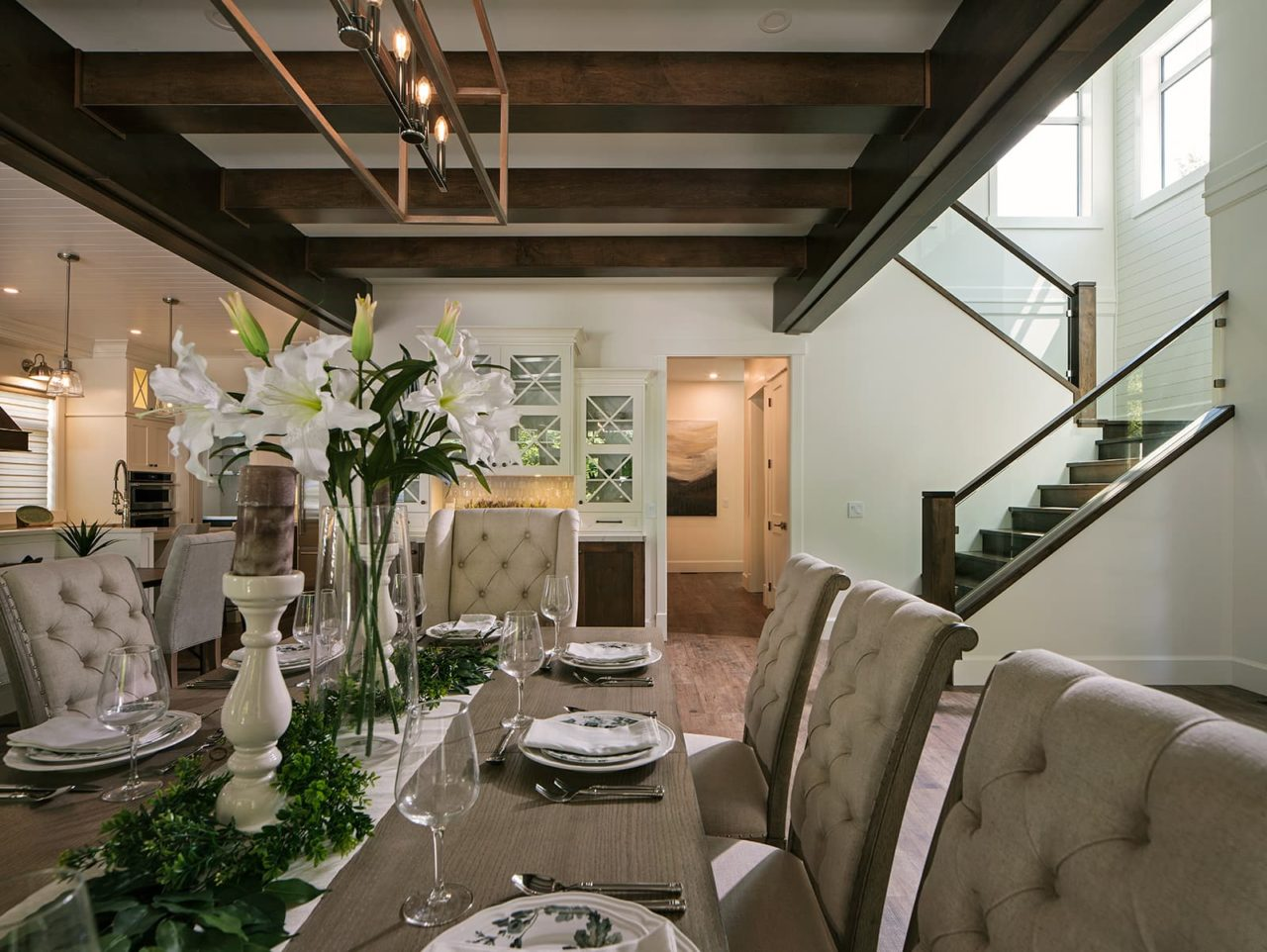 Freeport Industries PNE Prize Home 2019 Living Room Dining Room Stairs 1892